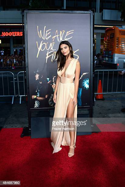 Actress Emily Ratajkowski arrives at the Premiere Of Warner Bros Pictures' We Are Your Friends at TCL Chinese Theatre on August 20 2015 in Hollywood...