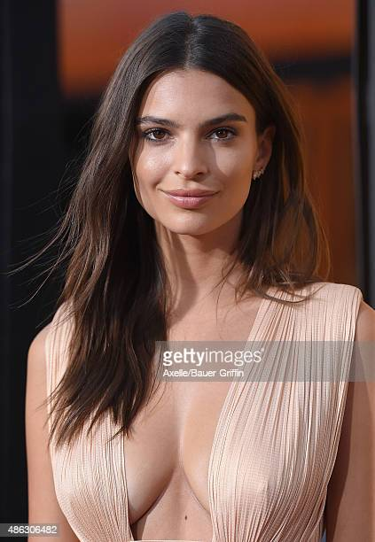 Actress Emily Ratajkowski arrives at the premiere of Warner Bros Pictures' 'We Are Your Friends' at TCL Chinese Theatre on August 20 2015 in...