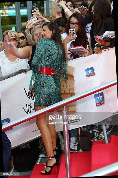 Actress Emily Ratajkowski arrives at the 'We Are Your Friends' Premiere at Kinepolis on August 12 2015 in Lille France