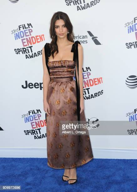 f9758ad3 Actress Emily Ratajkowski arrives for the 2018 Film Independent Spirit  Awards on March 3 2018 in