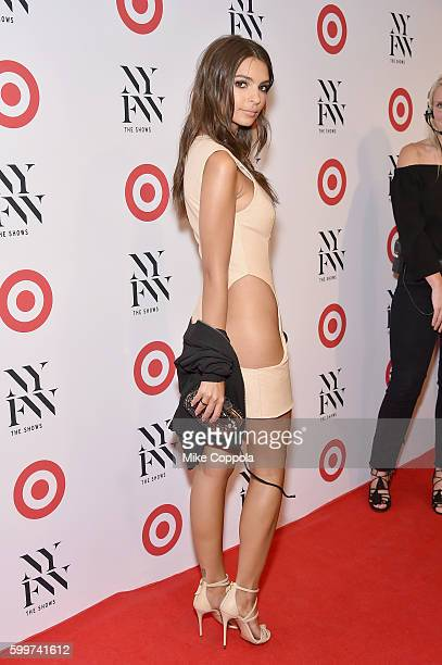 Actress Emily Ratajkowski attends Target IMG's NYFW kickoff at The Park at Moynihan Station on September 6 2017 in New York City