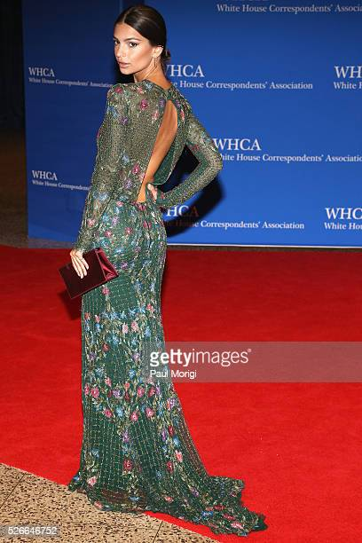 Actress Emily Ratajkowski attends the 102nd White House Correspondents' Association Dinner on April 30 2016 in Washington DC