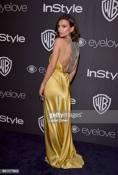 Actress Emily Ratajkowski attends the 18th Annual PostGolden Globes Party hosted by Warner Bros Pictures and InStyle at The Beverly Hilton Hotel on...