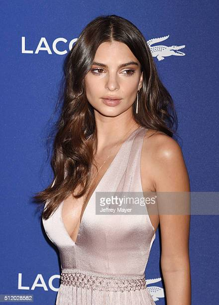 Actress Emily Ratajkowski attends the 18th Costume Designers Guild Awards at The Beverly Hilton Hotel on February 23 2016 in Beverly Hills California