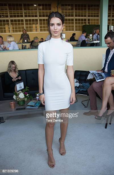 Actress Emily Ratajkowski attends the 2016 Breeders' Cup World Championships at Santa Anita Park on November 5 2016 in Arcadia California