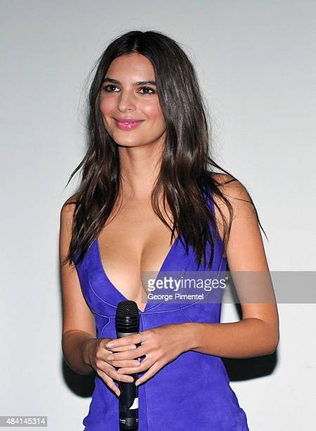 Actress Emily Ratajkowski attends the Canadian Premiere of Warner Bros Pictures We Are Your Friends at Scotiabank Theatre on August 14 2015 in...