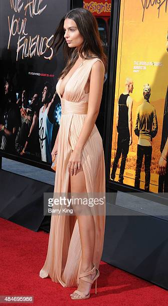 Actress Emily Ratajkowski attends the Premiere of Warner Brothers Pictures' 'We Are Your Friends' at TCL Chinese Theatre on August 20 2015 in...