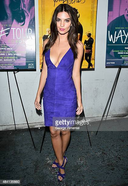 Actress Emily Ratajkowski attends the We are your friends afterparty at The Hoxton on August 14 2015 in Toronto Canada