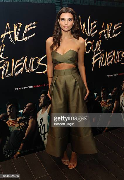 Actress Emily Ratajkowski attends the We Are Your Friends Tour Stop Photo Call And After Party at Marquee on August 18 2015 in New York City