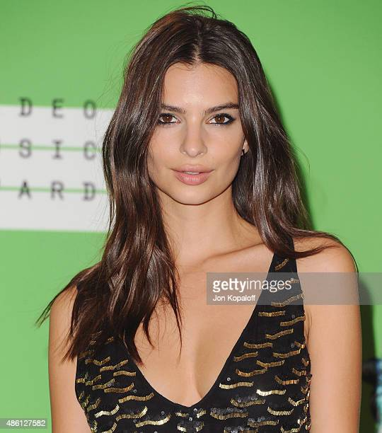 Actress Emily Ratajkowski poses in the press room at the 2015 MTV Video Music Awards at Microsoft Theater on August 30 2015 in Los Angeles California