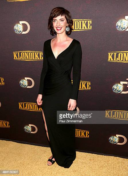 Actress Emily Riedel attends the 'Klondike' series premiere at Best Buy Theater on January 16 2014 in New York City