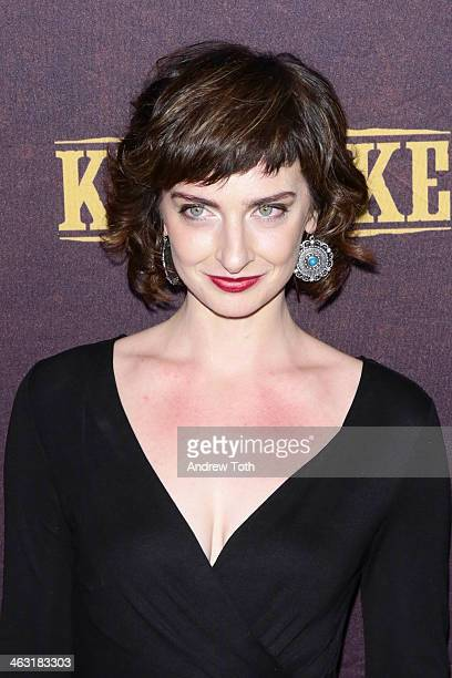 Actress Emily Riedel attends the Klondike series premiere at Best Buy Theater on January 16 2014 in New York City