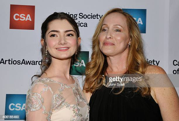 Actress Emily Robinson and Casting Director Eyde Belasco arrive for the Casting Society of America's 31st Annual Artios Awards at The Beverly Hilton...