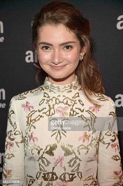Actress Emily Robinson attends Amazon Prime's Emmy Celebration at The Standard Hotel on September 20 2015 in Los Angeles California