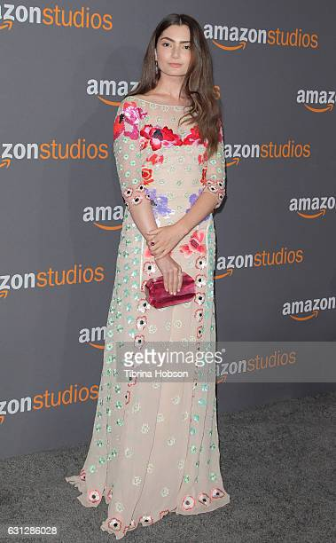 Actress Emily Robinson attends Amazon Studios Golden Globes Party at The Beverly Hilton Hotel on January 8 2017 in Beverly Hills California