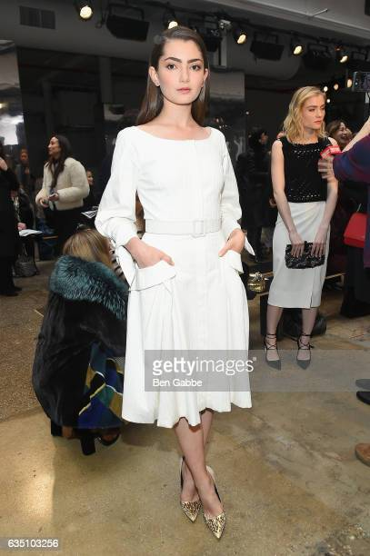 Actress Emily Robinson attends Carolina Herrera Collection during New York Fashion Week on February 13 2017 in New York City