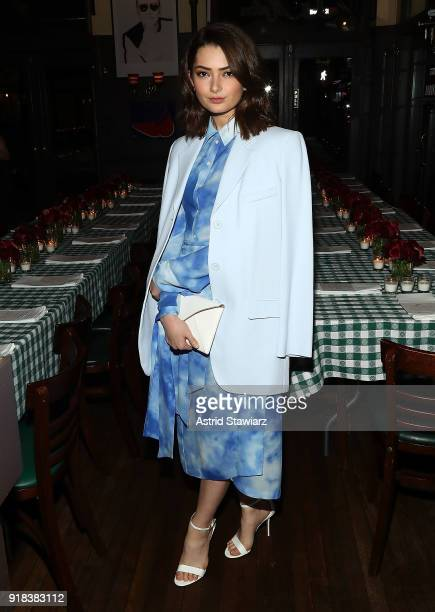 Actress Emily Robinson attends Michael Kors celebration for David Downton Collaboration at JG Melon on February 14 2018 in New York City