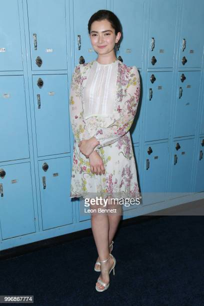 Actress Emily Robinson attends the Screening Of A24's Eighth Grade Arrivals at Le Conte Middle School on July 11 2018 in Los Angeles California