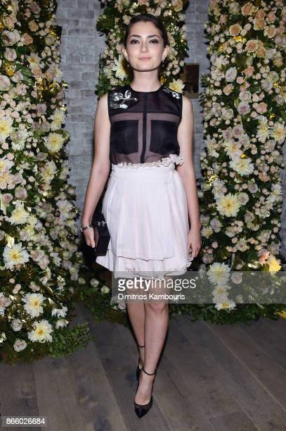 Actress Emily Robinson wearing John Hardy jewelry attends John Hardy And Vanity Fair Celebrate Legends at Le Coucou on October 24 2017 in New York...