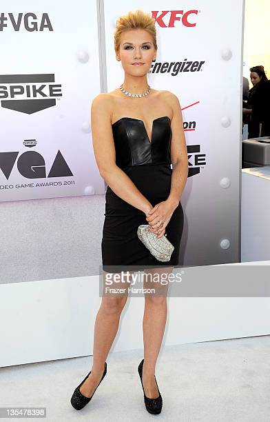 Actress Emily Rose arrives at Spike TV's 2011 Video Game Awards at Sony Studios on December 10 2011 in Los Angeles California
