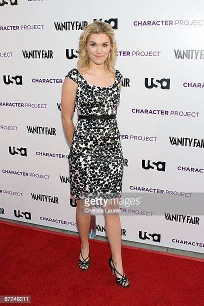 Actress Emily Rose arrives at the American Character A Photographic Journey Exhibition Opening Celebration at Ace Gallery on May 14 2009 in Beverly...