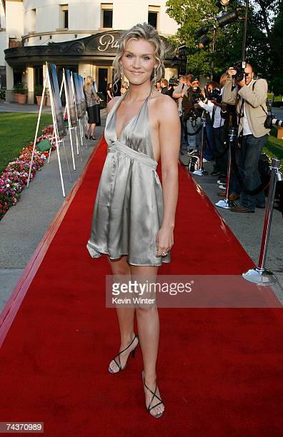 Actress Emily Rose arrives at the premiere of the HBO original series John from Cincinnati at the Paramount Theater on May 31 2007 in Los Angeles...