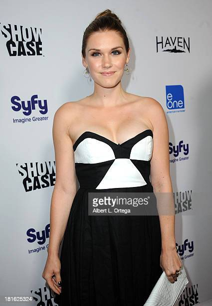 Actress Emily Rose arrives for Entertainment One's ComicCon 2013 Kick Off Party on Day 1 of the 2013 ComicCon International held at Sidebar on...