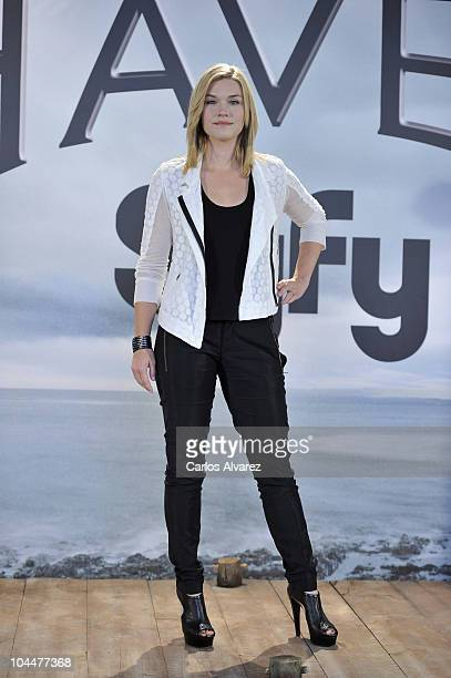 Actress Emily Rose attends Haven photocall on September 27 2010 in Madrid Spain
