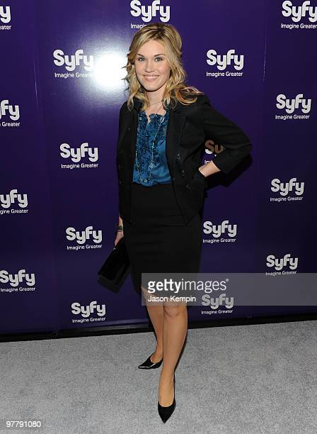 Actress Emily Rose attends the 2010 Syfy Upfront party at The Museum of Modern Art on March 16 2010 in New York City