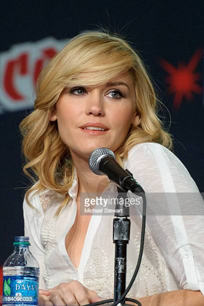 Actress Emily Rose attends the 2012 New York Comic Con at the Javits Center on October 13 2012 in New York City