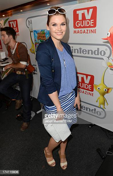 Actress Emily Rose attends the Nintendo Oasis on the TV Guide Magazine Yacht at ComicCon day 2 on July 19 2013 in San Diego California