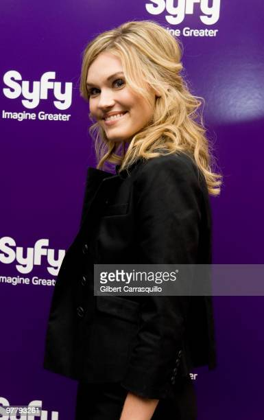 Actress Emily Rose attends the SYFY 2010 Upfront Party at The Museum of Modern Art on March 16 2010 in New York New York
