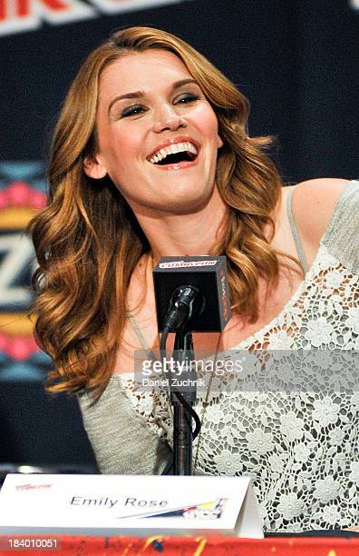 Actress Emily Rose from Haven attends New York Comic Con 2013 at Jacob Javits Center on October 10 2013 in New York City