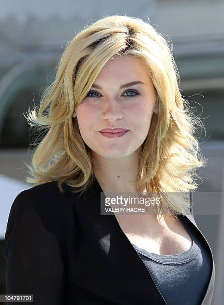 Actress Emily Rose poses during the TV series photocall Haven during the 26th edition of the fiveday MIPCOM on October 5 2010 in Cannes Thousands of...