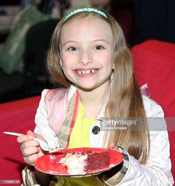 Actress Emily Rosenfeld attends Broadway's ANNIE The Musical Composer Charles Strouse Celebration at Palace Theatre on June 6 2013 in New York City