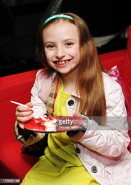 Actress Emily Rosenfeld attends Broadway's ANNIE The Musical Composer Charles Strouse Birthday Celebration at the Palace Theatre on June 6 2013 in...