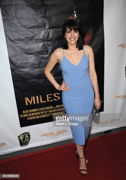 Actress Emily Sandifer arrives for the Los Angeles Premiere of 'Miles To Go' held at Writers Guild Theater on April 5 2018 in Beverly Hills California