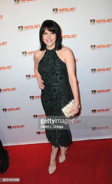 Actress Emily Sandifer attends the INFOListcom's PreOscar Soiree and Jeff Gund Birthday Party held at Mondrian Sky Bar on February 27 2018 in West...