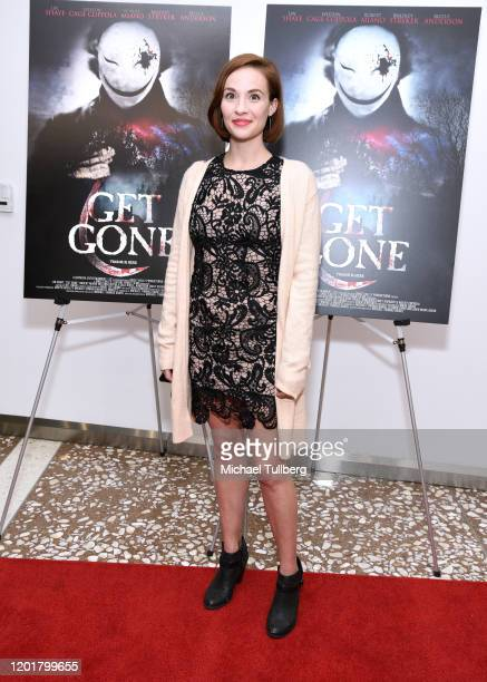 Actress Emily Shenaut attends the premiere of Get Gone at Arena Cinelounge on January 24 2020 in Hollywood California