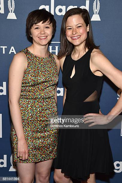 Actress Emily Skeggs and performer Kally Duling attend the 27th Annual GLAAD Media Awards in New York on May 14 2016 in New York City