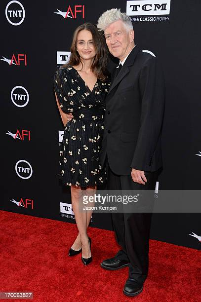 Actress Emily Stofle and director David Lynch attend AFI's 41st Life Achievement Award Tribute to Mel Brooks at Dolby Theatre on June 6 2013 in...