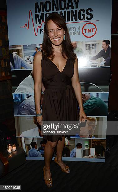 Actress Emily Swallow attends Monday Mornings Premiere Reception at at BOA Steakhouse on January 24 2013 in West Hollywood California...