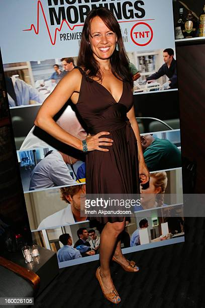 Actress Emily Swallow attends the screening of TNT's 'Monday Mornings' at BOA Steakhouse on January 24 2013 in West Hollywood California