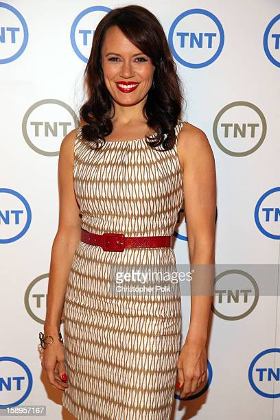Actress Emily Swallow of Monday Mornings attends Turner Broadcasting's 2013 TCA Winter Tour at Langham Hotel on January 4 2013 in Pasadena California...