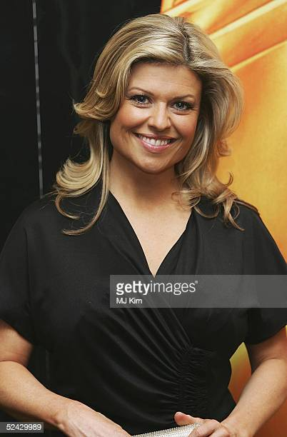 Actress Emily Symons attends the annual RTS Programme Awards 2005 presented by The Royal Television Society at Grosvenor House on March 15 2005 in...