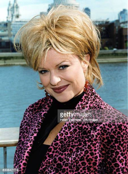 Actress Emily Symons who plays Marilyn Chambers in the Australian soap Home And Away in London where the cast are filming episodes of the show which...
