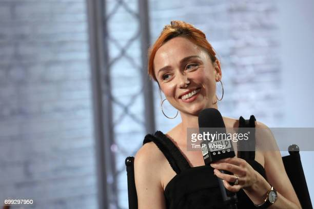 Actress Emily Taaffe speaks about her new film 'Little Bird' at the Build LDN event at AOL London on June 21 2017 in London United Kingdom