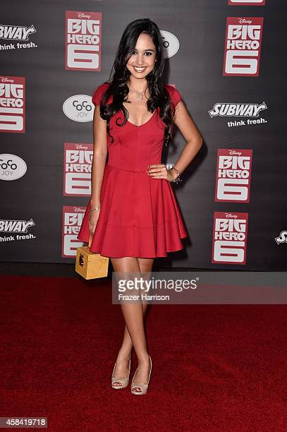 Actress Emily Tosta attends the premiere of Disney's Big Hero 6 at the El Capitan Theatre on November 4 2014 in Hollywood California