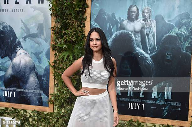 Actress Emily Tosta attends the premiere of Warner Bros Pictures' The Legend of Tarzan at Dolby Theatre on June 27 2016 in Hollywood California