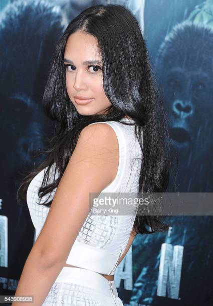 Actress Emily Tosta attends the premiere of Warner Bros Pictures' 'The Legend Of Tarzan' at TCL Chinese Theatre on June 27 2016 in Hollywood...